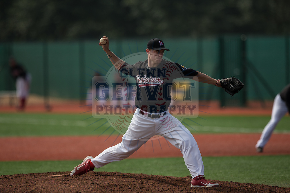 First game of the France International Baseball Tournament 2014, won by the Seino Unyu from Japan, 11 to 3 against Belgium Team