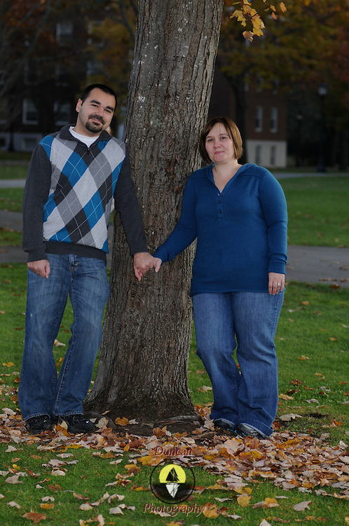 11/9/11 -- Lynzi and Nate portrait shoot at Bowdoin.  Photo by Roger S. Duncan.