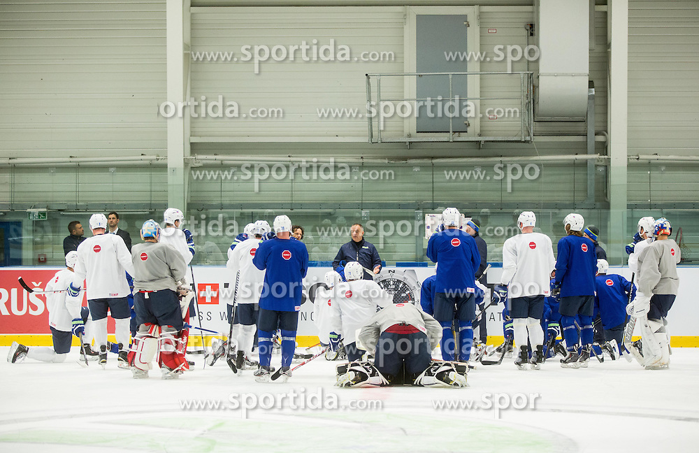 Matjaz Kopitar, head coach during practice session of Slovenian National Ice Hockey Team 1 day prior to the 2015 IIHF World Championship in Czech Republic, on April 30, 2015 in Practice arena Ostrava, Czech Republic. Photo by Vid Ponikvar / Sportida