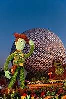 Toy Story 3 Topiary (Epcot Flower & Garden Festival), Epcot, Walt Disney World, Orlando, Florida USA