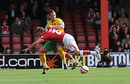 Bristol - Saturday, October 18th, 2008: Lee Trundle of Bristol City and John Kennedy of Norwich City during the Coca Cola Championship match at Ashton Gate, Bristol. (Pic by Alex Broadway/Focus Images)