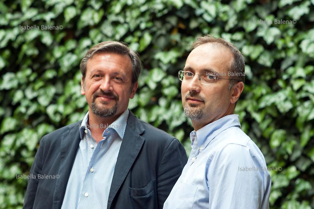 Moby Prince. Angelo Chessa, ortopedico, 47 e Gabriele Bardazza, 44, dello Studio Bardazza-Adinolfi di ingegneria forense. Milano, Lombardia, Italia, Italy.