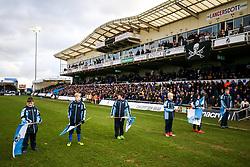 Flagbearers - Rogan/JMP - 01/01/2018 - FOOTBALL - Memorial Stadium - Bristol, England - Bristol Rovers v Portsmouth - EFL Sky Bet League One.