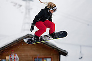 Verbier, Switzerland. March 18th 2010..Verbier Swatch Snowpark - La Chaux..