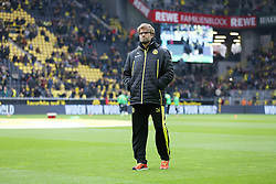 15.03.2014, Signal Iduna Park, Dortmund, GER, 1. FBL, Borussia Dortmund vs Borussia Moenchengladbach, 25. Runde, im Bild Trainer Juergen Klopp (Borussia Dortmund) nachdenklich, konzentriert, fokussiert // during the German Bundesliga 25th round match between Borussia Dortmund and Borussia Moenchengladbach at the Signal Iduna Park in Dortmund, Germany on 2014/03/15. EXPA Pictures © 2014, PhotoCredit: EXPA/ Eibner-Pressefoto/ Schueler<br /> <br /> *****ATTENTION - OUT of GER*****