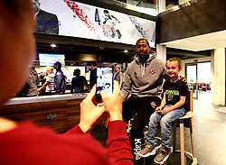 Rohndell Goodwin of Bristol Flyers meets fans at the 2017/18 launch event at Ashton Gate - Mandatory by-line: Robbie Stephenson/JMP - 11/09/2017 - BASKETBALL - Ashton Gate - Bristol, England - Bristol Flyers 2017/18 Season Launch