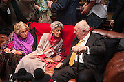 COUNTESS MOUNTBATTEN OF BURMA; JAYA THADANI; ,PRINCE RUPERT LOEWENSTEIN, , Book launch for ' Daughter of Empire - Life as a Mountbatten' by Lady Pamela Hicks. Ralph Lauren, 1 New Bond St. London. 12 November 2012.