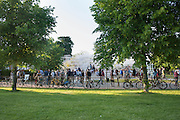 BICYCLES, Private view, Serpentine Gallery Pavilion 2013. Designed by Sou Fujimoto. Kensington Gardens. 6 June 2013.