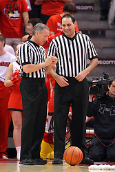 17 February 2016:  Terry Oglesby and Bo Boroski during the Illinois State Redbirds v Indiana State Sycamores at Redbird Arena in Normal Illinois (Photo by Alan Look)