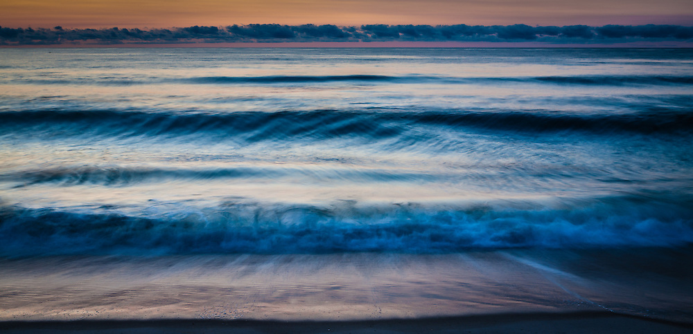 Waves at sunrise on Long Beach Island, New Jersey