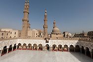 Egypt. Cairo elevated view.  - Al Azhar mosque courtyard  view from the minarets. islamic Cairo  +