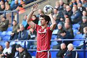Middlesbrough Defender, George Friend in action during the Sky Bet Championship match between Bolton Wanderers and Middlesbrough at the Macron Stadium, Bolton, England on 16 April 2016. Photo by Mark Pollitt.
