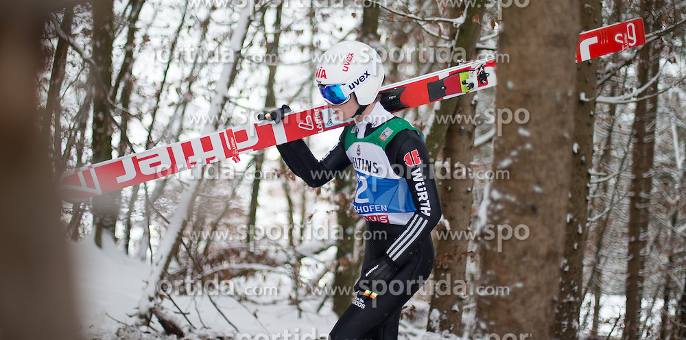 05.01.2015, Paul Ausserleitner Schanze, Bischofshofen, AUT, FIS Ski Sprung Weltcup, 63. Vierschanzentournee, Training, im Bild Marinus Kraus (GER) // during Training of 63rd Four Hills <br /> Tournament of FIS Ski Jumping World Cup at the Paul Ausserleitner Schanze, Bischofshofen, Austria on 2015/01/05. EXPA Pictures &copy; 2015, PhotoCredit: EXPA/ JFK