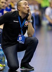 Talant Dujsebajev, head coach of Atletico Madrid during handball match between RK Celje Pivovarna Lasko and BM Atletico Madrid in 2nd Round of Group B of EHF Champions League 2012/13 on October 6, 2012 in Arena Zlatorog, Celje, Slovenia. Atletico Madrid defeated Celje Pivovarna Lasko 28-22. (Photo By Vid Ponikvar / Sportida)