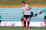 Ali Riley during warm up at the Cup of Nations Women's Football match, New Zealand Football Ferns v Matildas, Leichhardt Oval, Thursday 28th Feb 2019. Copyright Photo: David Neilson / www.photosport.nz