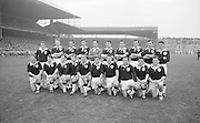 All Ireland Senior Football Championship Final, Dublin v Galway, 22.09.1963, 09.23.1963, 22nd September 1963, Dublin 1-9 Galway 0-10,..The Galway Team defeated by Dublin.Back Row Left to right S Leyden, M McDonagh, N Tierney, M MacReynolds, M Moore, E Colleran and S Meade,( People  nine and ten from left unidentified).Front Row Left to Right S Donnellan, C Dunne, J Keenan,  B Geraghty, M Garrett Captain, S B McDermott, P Donnellan, M Newell, (people nine and ten unidentified. from left).Substitutes T Farrell, S Brennan, J Keeley, B Geraghty, .