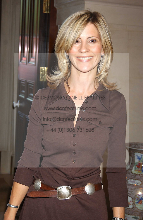 JULIA CARLING at the CLIC Sargent's Yumy Mummy lunch held at The Lanesborough Hotel, Hyde Park Corner, London on 20th September 2005.<br />