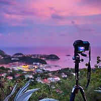 Prises de vues dans les hauteurs de Gustavia -Saint-Barthélémy.-Saint-Barthélémy.