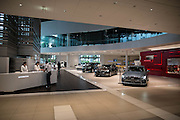 Showroom of the headquarters of Japan's auto giant Nissan Motor in Yokohama, in suburban Tokyo, on July 27, 2016.<br /> Nissan is expected to announce its financial result of the first quarter from April to June 2016.26/07/2016-Yokohama, JAPAN