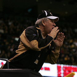 2008 December, 28: A New Orleans Saints screams from the stands during a 33-31 week 17 loss by the New Orleans Saints to NFC South divisional rivals the Carolina Panthers at the Louisiana Superdome in New Orleans, LA.