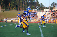 Oxford High's D.K. Metcalf (14) returns the opening kickoff vs. Jackson Prep in Oxford, Miss. on Friday, August 23, 2013. Oxford won 32-20.