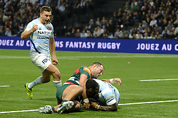 December 9, 2018 - Nanterre, Hauts de Seine, France - Racing 92 Centre VIRIMI VAKATAWA score first try of his team during the rugby Champions Cup Day 3 between Racing 92 and Leicester at U Arena Stadium in Nanterre - France..Racing 92 Won 36-26. (Credit Image: © Pierre Stevenin/ZUMA Wire)