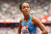 Katerina Johnson-Thompson of Great Britain during the Muller Anniversary Games at the London Stadium, London, England on 9 July 2017. Photo by Martin Cole.