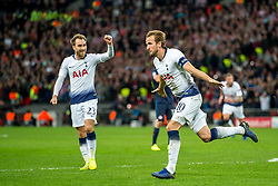 November 6, 2018 - London, Greater London, England - Harry Kane of Tottenham Hotspur celebrates scoring the winning goal the winning goal during the UEFA Champions League Group Stage match between Tottenham Hotspur and PSV Eindhoven at Wembley Stadium, London, England on 6 November 2018. Photo by Salvio Calabrese. (Credit Image: © AFP7 via ZUMA Wire)