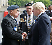 Raising the flag for Armed Forces Day <br /> at City Hall, London, Great Britain <br /> <br /> 20th June 2011<br /> <br /> Boris Johnson <br /> Mayor of London<br /> <br /> Photograph by Elliott Franks