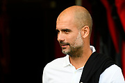 Manchester City manager Pep Guardiola before the Premier League match between Bournemouth and Manchester City at the Vitality Stadium, Bournemouth, England on 26 August 2017. Photo by Graham Hunt.