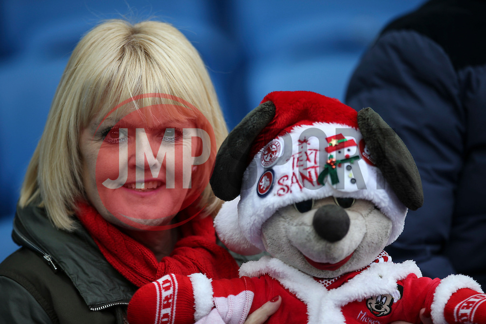 Middlesbrough fans shows support for TEXT SANTA - Mandatory byline: Jason Brown/JMP - 07966 386802 - 19/12/2015 - FOOTBALL - American Express Community Stadium - Brighton,  England - Brighton & Hove Albion v Middlesbrough - Championship