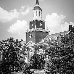 University of Cincinnati black and white picture of Cincinnati McMicken College Hall. Photo is high resolution and is Copyright © 2012 Paul Velgos with All Rights Reserved.