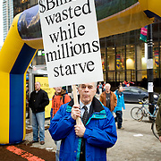Anti Olympic protestors on the opening day of the 2010 Vancouver Olympic games.  February 12th, 2010...Photo/David Buzzard.