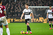 Fulham Midfielder Tom Cairney (10) in action during the Premier League match between West Ham United and Fulham at the London Stadium, London, England on 22 February 2019.