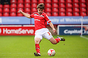 Walsall's Andy Taylor crosses the ball during the Sky Bet League 1 match between Walsall and Bury at the Banks's Stadium, Walsall, England on 5 September 2015. Photo by Shane Healey.