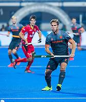 BHUBANESWAR, INDIA - Jeroen Hertzberger (Ned)  tijdens   de  finale tussen België en Nederland (0-0) bij het WK Hockey heren in het Kalinga Stadion. Belgie wint na shoot-outs. COPYRIGHT KOEN SUYK