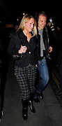 26.FEBRUARY.2007. LONDON<br /> <br /> MANAGER JOSE MOURINHO AND HIS WIFE, ASSISTANT MANAGER STEVE CLARKE, ARJEN ROBBEN WHO IS DOING SOME WEIRD IMPRESSION IN THE CAB AND HIS GIRLFRIEND, FRANK LAMPARD AND HIS VERY PREGNANT WIFE ELEN RIVES AND WAYNE BRIDGE AND HIS WIFE VANESSA ALL LEAVING SAN LORENZO RESTAURANT IN KNIGHTSBRIDGE AFTER CELEBRATING CHELSEA'S WIN OVER ARSENAL IN THE CARLING CUP FINAL.<br /> <br /> BYLINE: EDBIMAGEARCHIVE.CO.UK<br /> <br /> *THIS IMAGE IS STRICTLY FOR UK NEWSPAPERS AND MAGAZINES ONLY*<br /> *FOR WORLD WIDE SALES AND WEB USE PLEASE CONTACT EDBIMAGEARCHIVE - 0208 954 5968*
