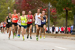 CVS Health Downtown 5k, USA 5k road championship, lead pack of men with quarter mile to go, Jimmy Spisak (80), Trevor Dunbar (52)