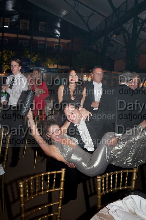 TIM GOODALE; NATALYA SAVELYEVA DANCING, Evgeny Lebedev and Graydon Carter hosted the Raisa Gorbachev charity Foundation Gala, Stud House, Hampton Court, London. 22 September 2011. <br /> <br />  , -DO NOT ARCHIVE-&copy; Copyright Photograph by Dafydd Jones. 248 Clapham Rd. London SW9 0PZ. Tel 0207 820 0771. www.dafjones.com.