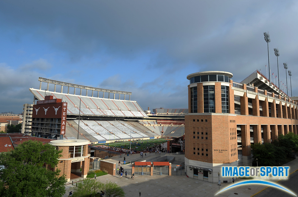 Mar 31, 2012; Austin, TX, USA; General view of Darrell K. Royal-Texas Memorial Stadium on the campus of the University of Texas.