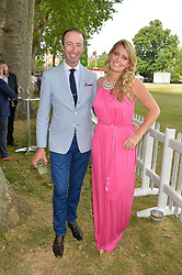 HOWARD MUTTI-MEWSE and LADY KITTY SPENCER at the Flannels For Heroes cricket competition in association with Dockers held at Burton Court, Chelsea, London on 19th June 2015