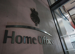 The sign outside the Home Office in Westminster, London, following the resignation of Amber Rudd who resigned as Home Secretary amid claims she misled Parliament over targets for removing illegal migrants.