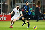 Kostas Manolas of AS Roma and Mauro Icardi of Inter during the Italian championship Serie A football match between FC Internazionale and AS Roma on January 21, 2018 at Giuseppe Meazza stadium in Milan, Italy - Photo Morgese - Rossini / ProSportsImages / DPPI