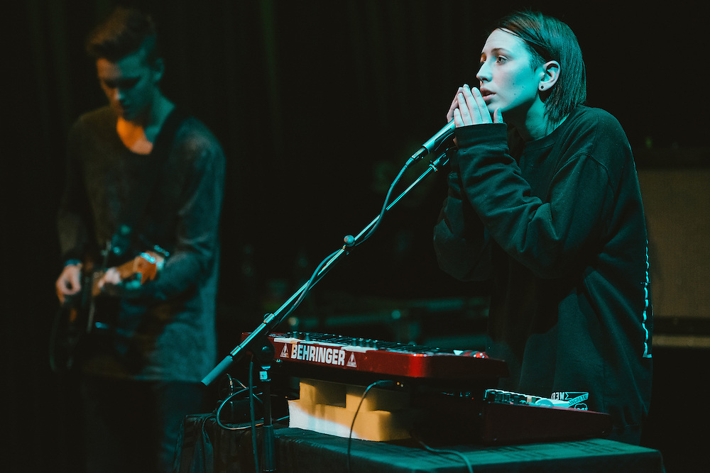 Photos of the Icelandic band Vök performing live during Sónar Reykjavík music festival at Harpa concert hall in Reykjavík, Iceland. February 15, 2014. Copyright © 2014 Matthew Eisman. All Rights Reserved