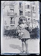 little girl in a park France circa 1920s