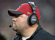 Arizona Cardinals defensive coordinator James Bettcher looks on from the sideline during the NFL NFC Divisional round playoff football game against the Green Bay Packers on Saturday, Jan. 16, 2016 in Glendale, Ariz. The Cardinals won the game in overtime 26-20. (©Paul Anthony Spinelli)