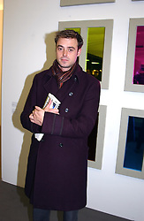TV presenter JAMIE THEAKSTON at a private view of the 2004 Frieze Art Fair - a major exhibition attended by most of the leading contempoary art dealers held in Regents Park, London on 14th October 2004.NON EXCLUSIVE - WORLD RIGHTS