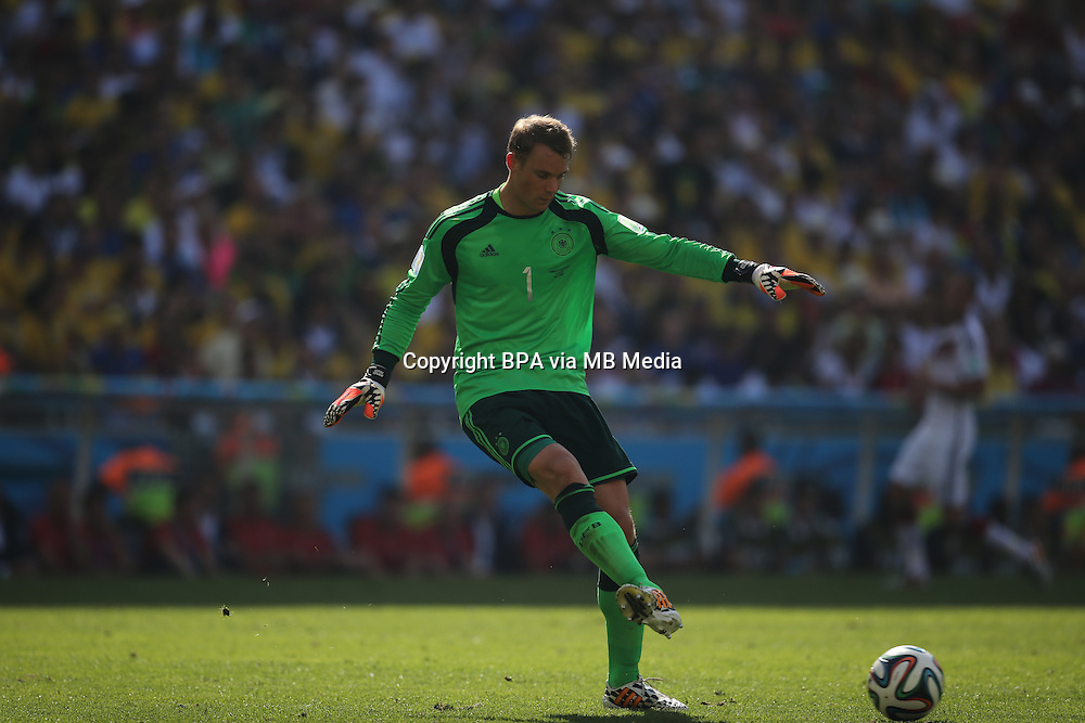 Manuel Neuer. France v Germany, quarter-final. FIFA World Cup Brazil 2014. 4 July 2014