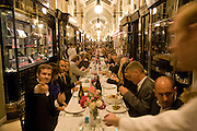 DINING TABLE DOWN BURLINGTON ARCADE, Henry Moore Exhibition. Hauser and Wirth. 15 Old Bond St. and afterwards dinner at the Burlington arcade. 14 October 2008 *** Local Caption *** -DO NOT ARCHIVE -Copyright Photograph by Dafydd Jones. 248 Clapham Rd. London SW9 0PZ. Tel 0207 820 0771. www.dafjones.com<br /> DINING TABLE DOWN BURLINGTON ARCADE, Henry Moore Exhibition. Hauser and Wirth. 15 Old Bond St. and afterwards dinner at the Burlington arcade. 14 October 2008