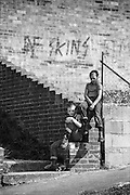 Nev and Alvin in Hawthorne Rd, High Wycombe, UK, 1980s.